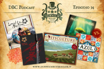 Episodio 34 – Legend of the Five Rings RPG e LCG, Viticulture, Photosynthesis VS Azul